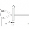 AP3719 - Duct air port for flat surfaces. Two pieces of tube Ø 3.2 / Ø 6.4, 1m long.