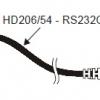 HD206/54 - Seriële kabel 1,5 mt. voor aansluiting Mini Data Loggers. 8 polig DIN/ SUBD 9 polig female.