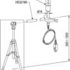 HP3201.2 - Natuurlijke ventilatie natte bol. Pt100 sensor. Probe Ø 14 mm, 170 mm. compleet met SICRAM, reserve braid en 50cc distilled water.