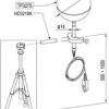 TP3275 - Globe °C probe, Pt100 sensor, globe Ø 150 mm. Ø 14 mm, 110 mm. kabel 2 mt. Sircam.